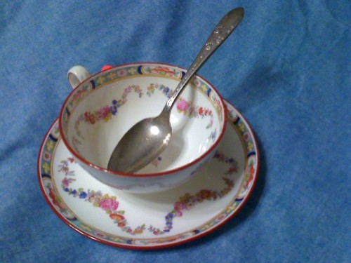 Minton with spoon