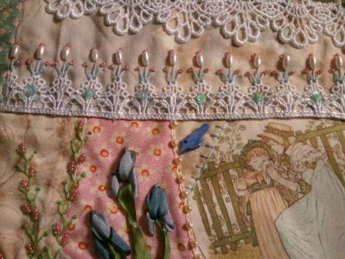Embellished lace trim