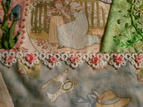 Farago Rose lace trim